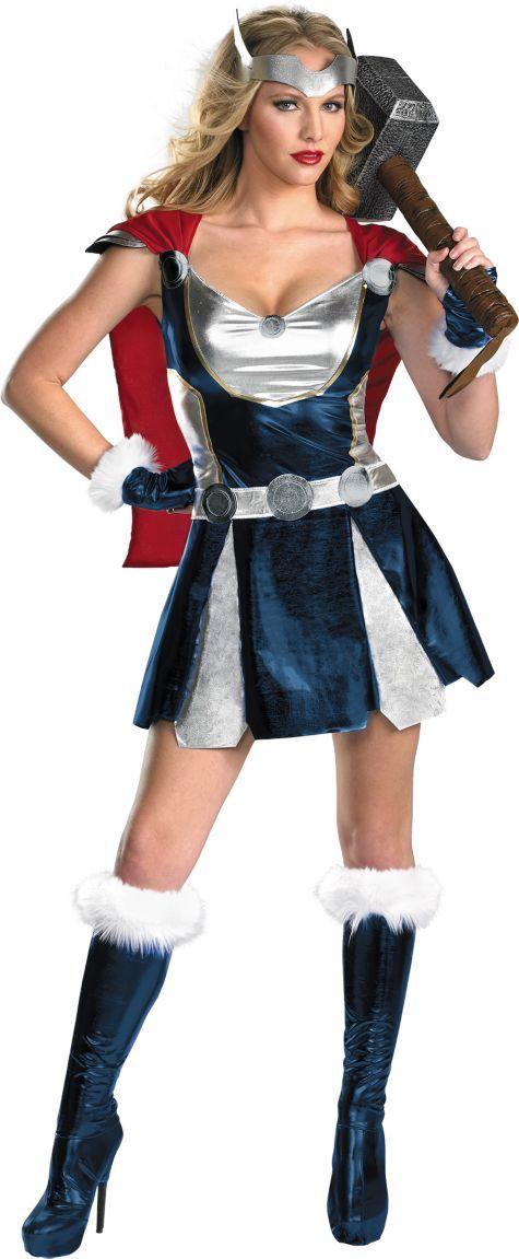 Adult Sassy Thor Costume - Party City   Spirit Halloween ...