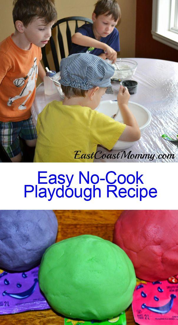 Easy NoCook Playdough HowTo Cooked playdough