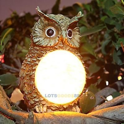 New Garden Yard Decor Solar Owl Light Bird Outdoor Light Statue Solar  Powered