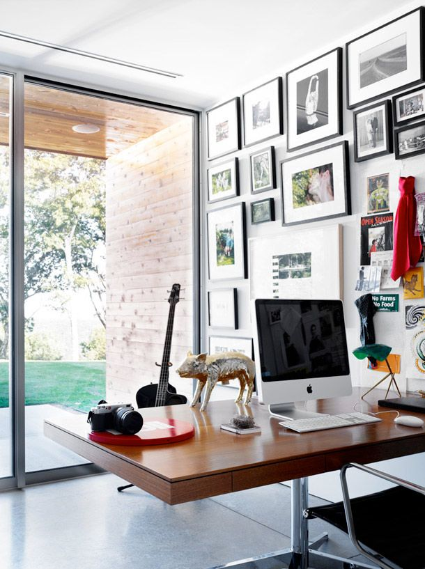 Sara Rotman\'s House | Window, Desks and Office spaces