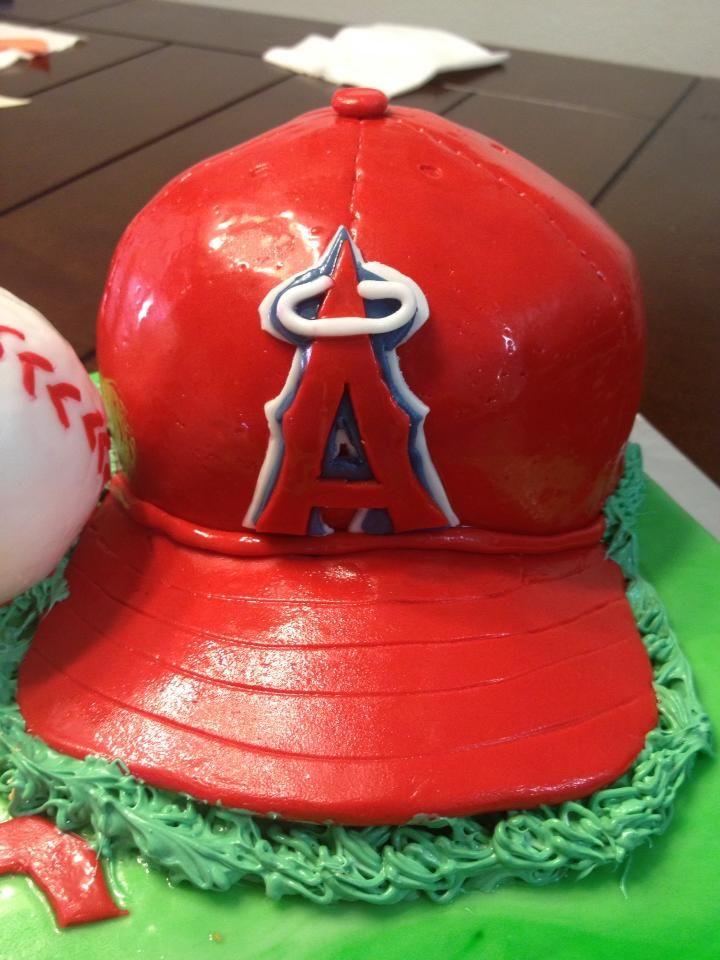 Angels Baseball Birthday Cake Baseball Hat Baseball