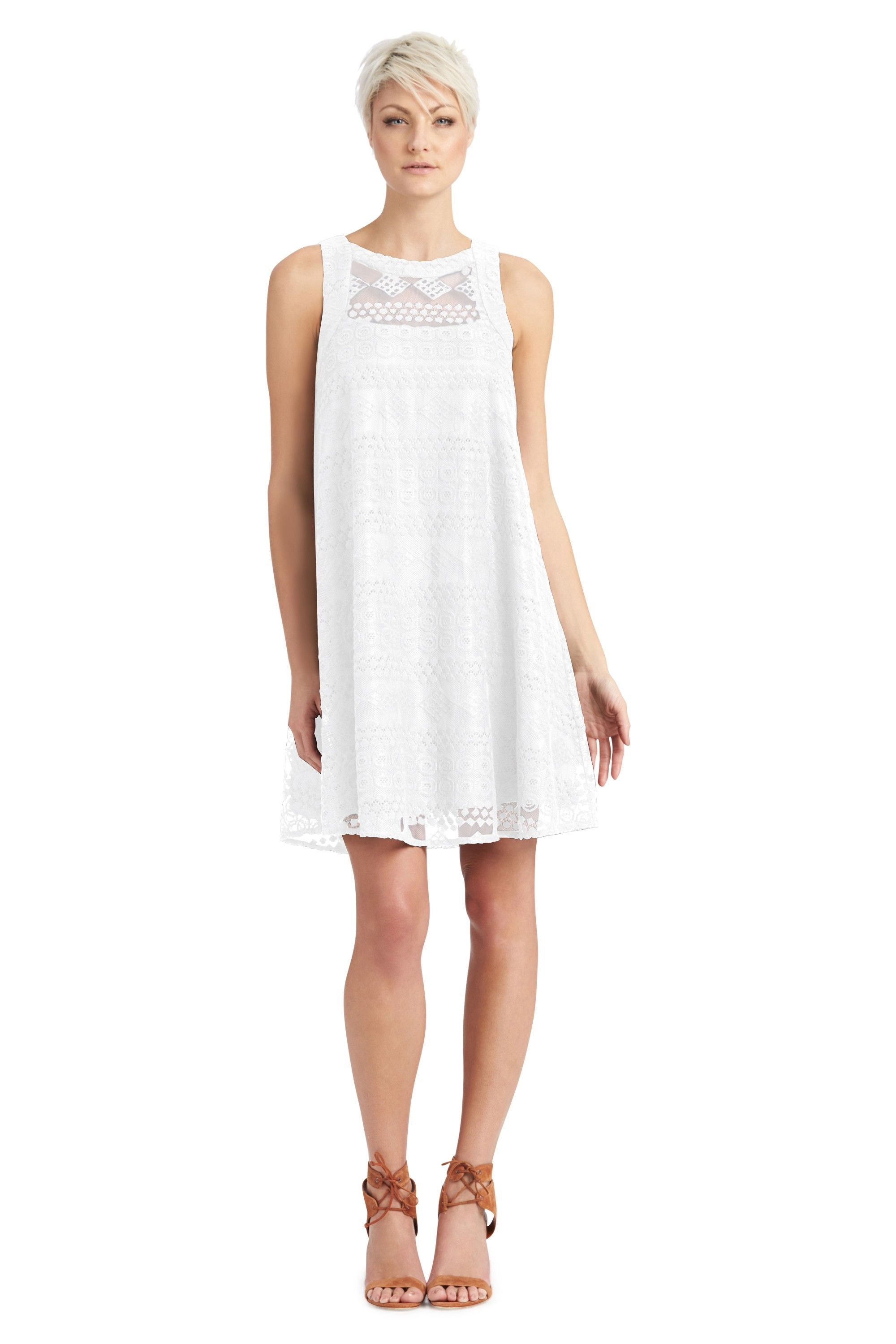 denise lace tent dress white main.  sc 1 st  Pinterest & denise lace tent dress white main. | Vacation....all I ever wanted ...