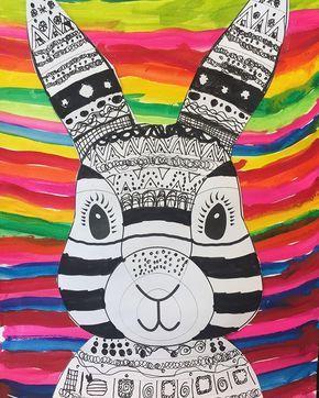 """Alessandra on Instagram: """"Voll cool! � Jetzt fehlt noch die bunte Sonnrnbrille und dann kann das verrückte Osterfest kommen �. Vorlage: @teachstarter #kidsart…"""""""