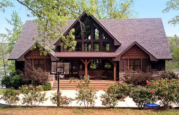 Vacation Escape With Views Lake House Plans Craftsman House Plans Mountain House Plans