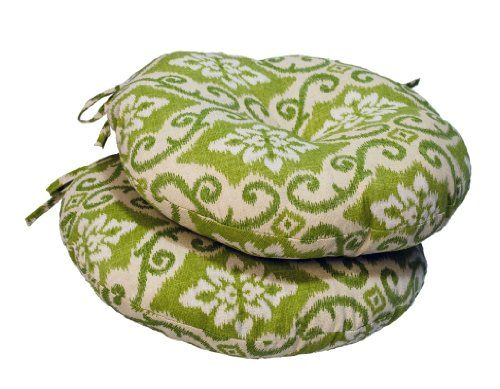 Greendale Home Fashions Round Outdoor Bistro Chair Cushion, 18 Inch, Green  Ikat, Set Of 2 Greendale Home Fashions Http://www.amazon.com/dp/B00I4SG9u2026