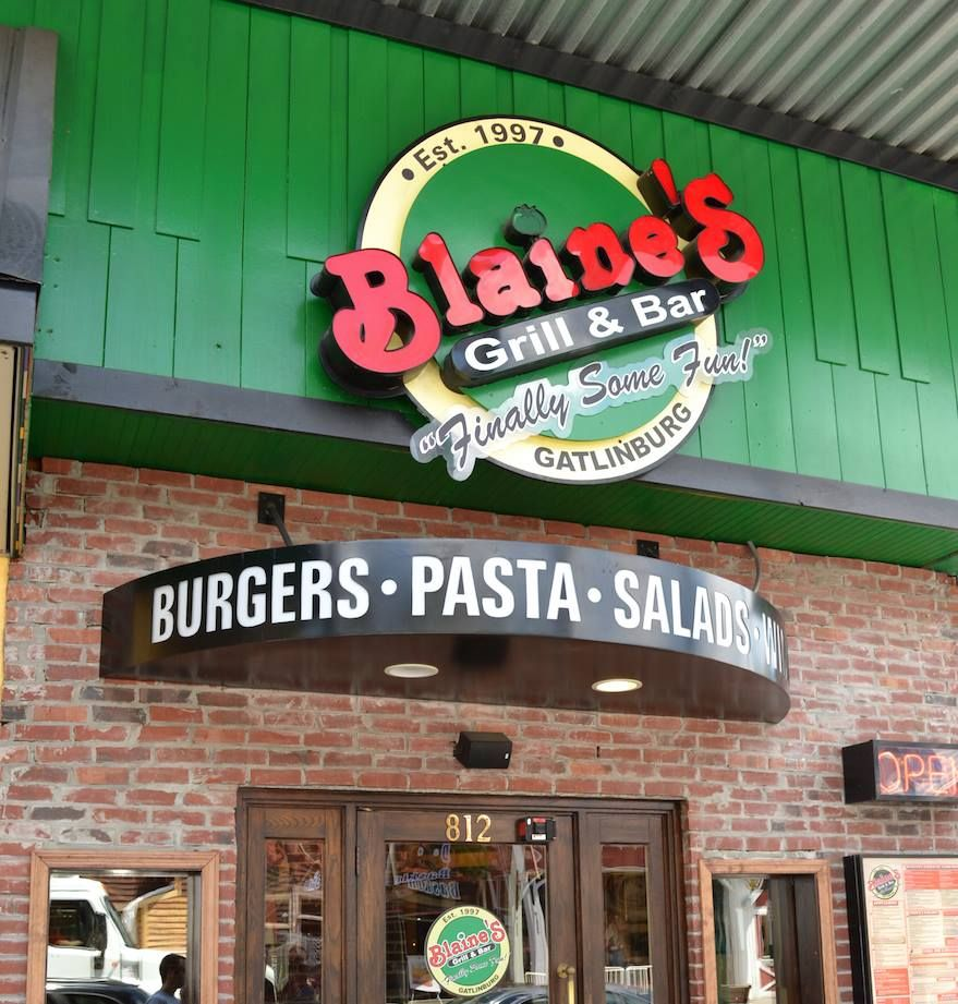 Blaine S Grill Bar Eat Some Delicious Burgers Pastas And Salads With Images Gatlinburg Restaurants Downtown Gatlinburg Hotels Gatlinburg Hotels