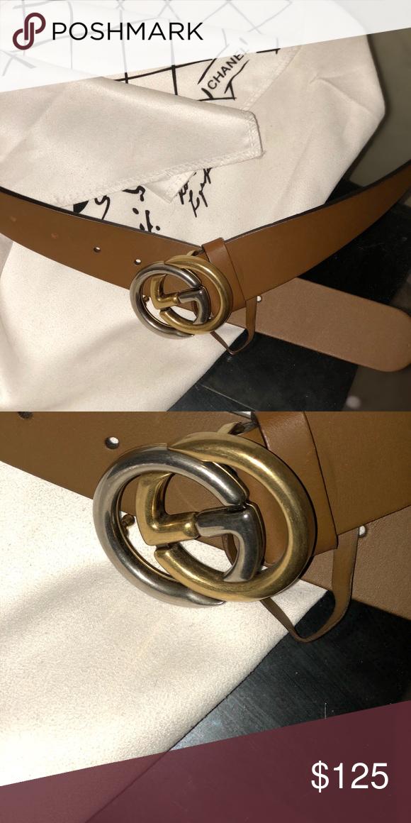 5cdfd43ac11 Authentic Men Women unisex Gucci belt brand new Brown Accessories Belts