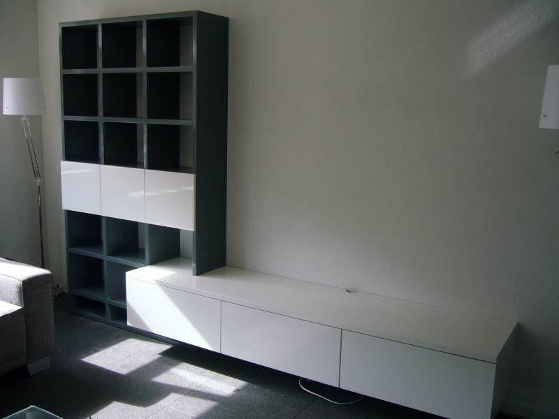 Tv meubel met boekenkast RAL kleur zijdeglans | Te Boveldt ...