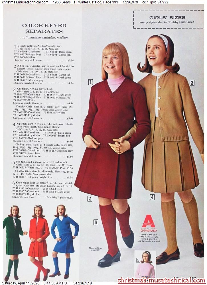 1966 Sears Fall Winter Catalog, Page 191 - Christm