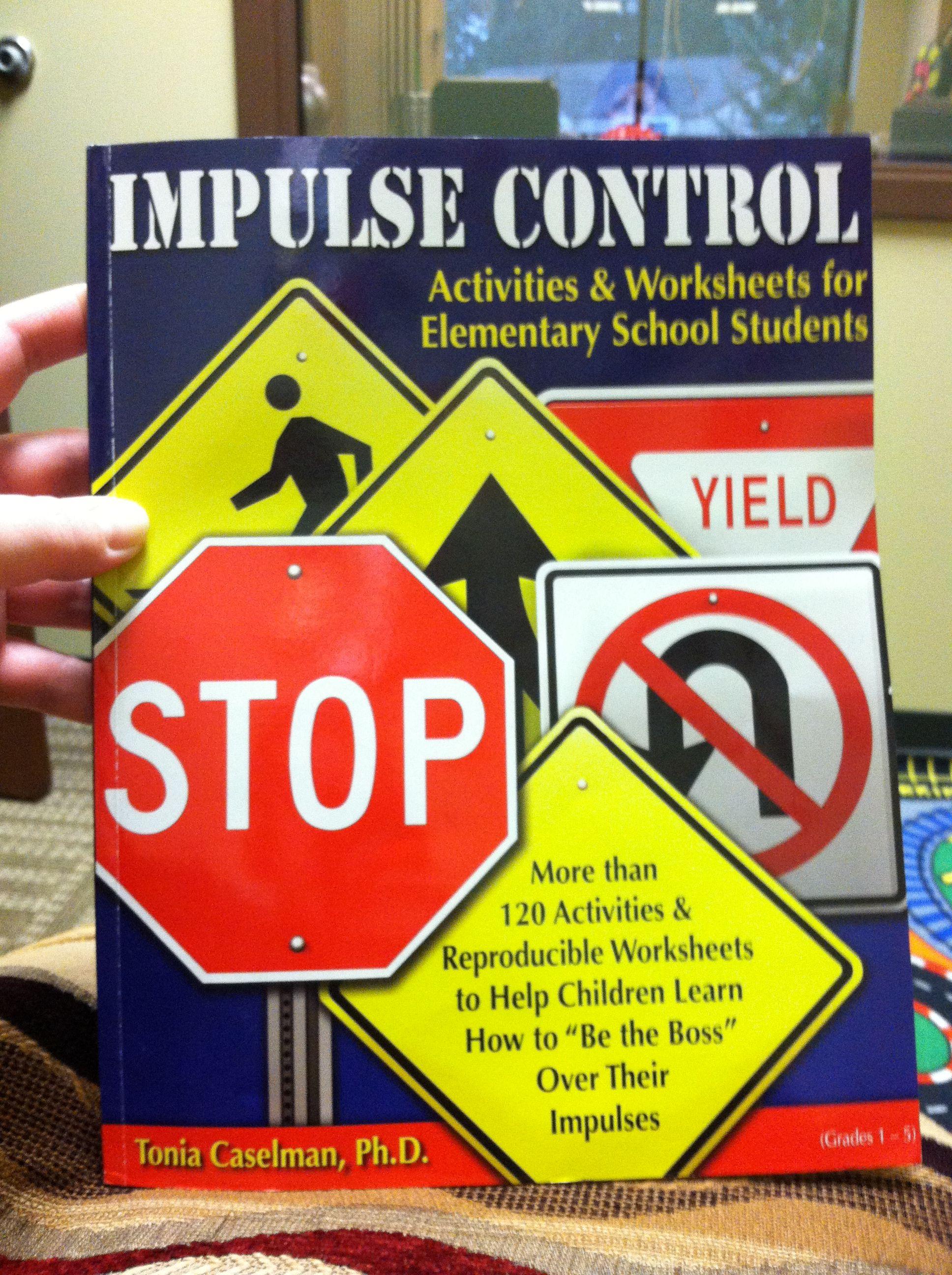 Impulse Control Activities Worksheet