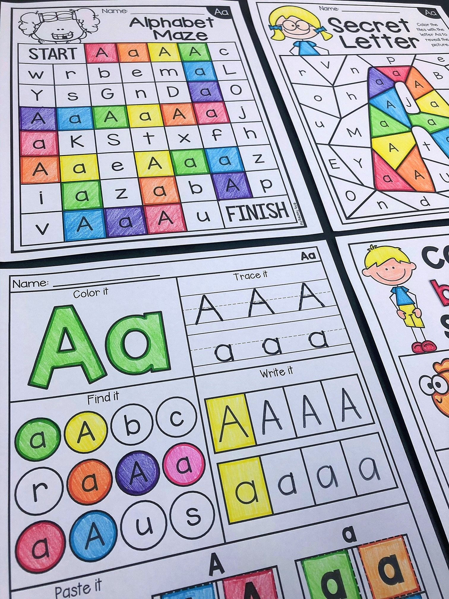 Alphabet Worksheets For Kindergarten And Preschool Get Your Students Practicing All Things Relat Alphabet Worksheets Alphabet Worksheets Kindergarten Alphabet