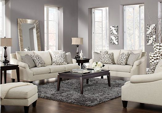 beige leather living room set. picture of Alexandria Beige 5 Pc Living Room from Sets Furniture