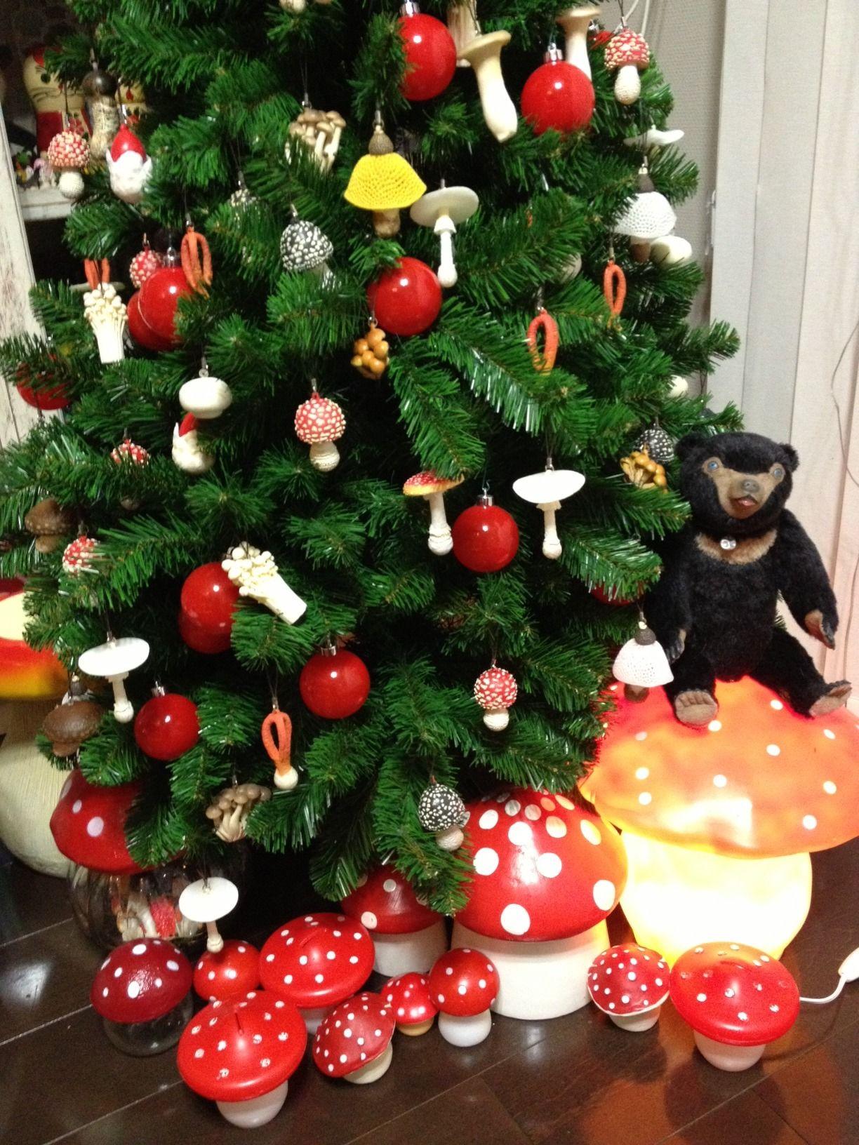 Germanic paganism amazing tabletop christmas trees decorating plan - Toadstool Red And White Mushroom Christmas Tree