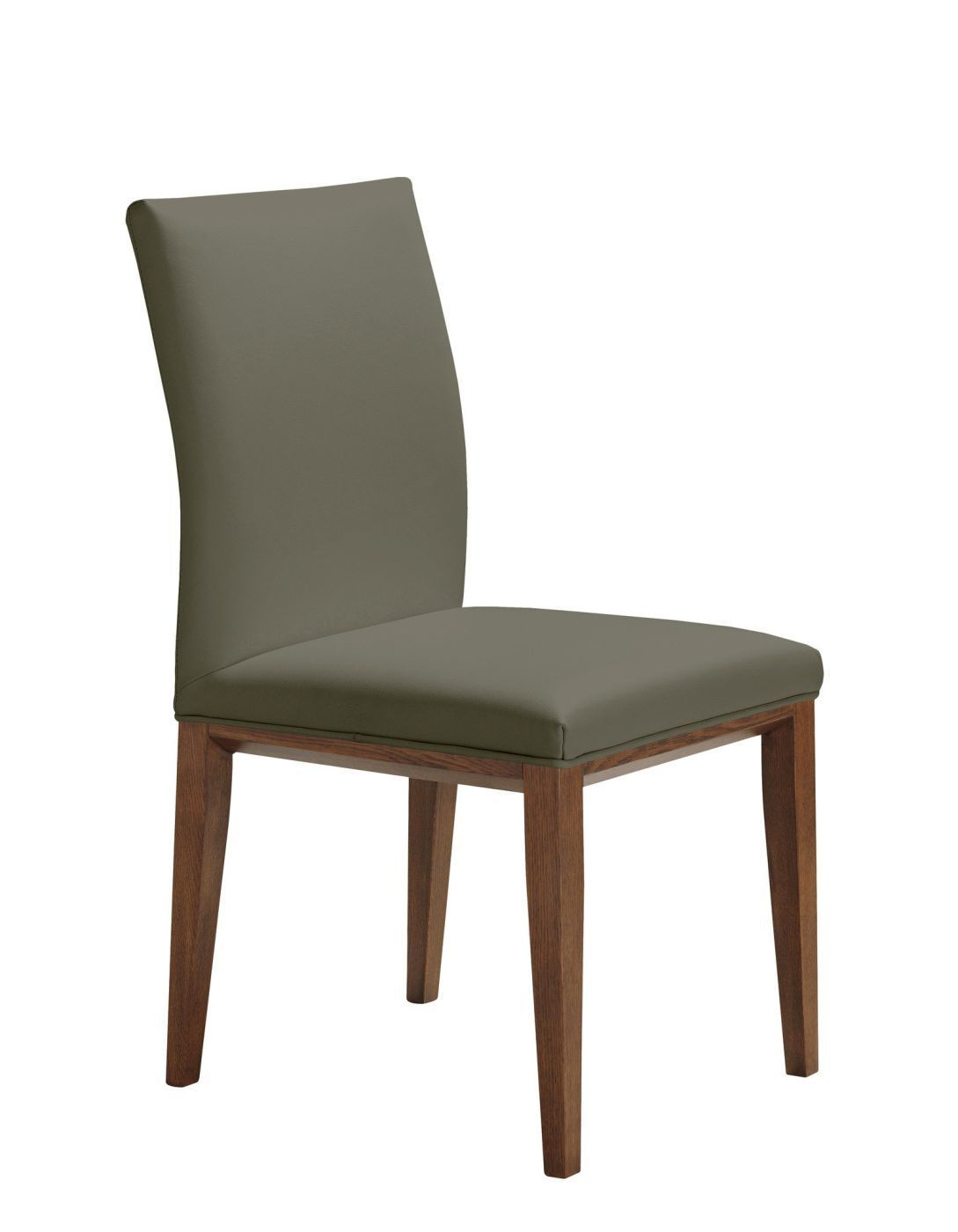 Kingston Dining Chair Grey (Set Of 2) Top Grain Leather Solid Rubberwood  Legs