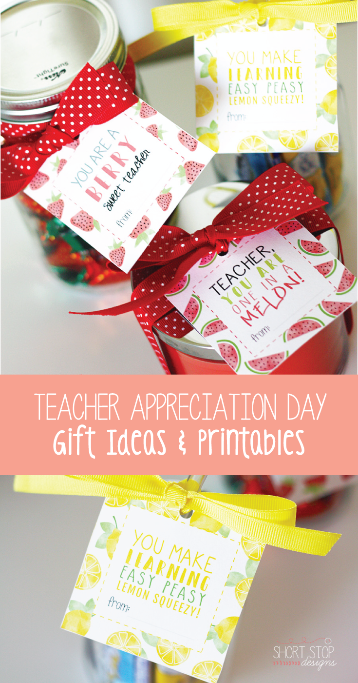 Teacher Appreciation Day Gift Ideas Printables Teacher Appreciation Gifts Teacher Gifts Teacher Gift Tags