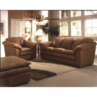 Charmant Omnia Leather Oregon Chair And A Half Body Fabric: Softsations Chocolate,  Seat Cushion Fill