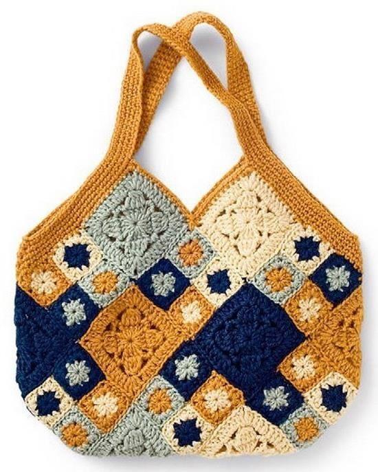 Bag Of 24 Squares Pattern Crochet Square Motifs Patterns Gigi