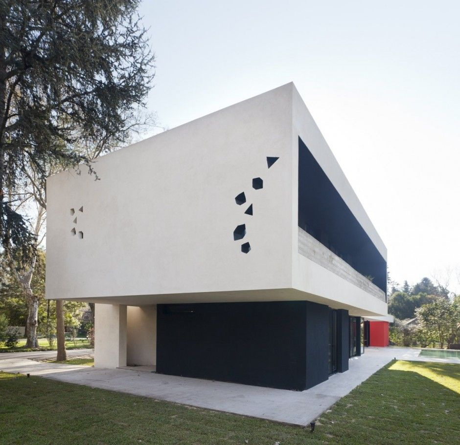 blltt house by enrique barberis in buenos aires argentina exterior wall design blltt house - Exterior Wall Designs