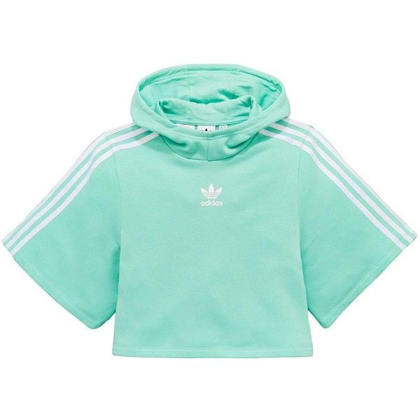 ea087e80fb3a9 Adidas Originals Adidas Originals Older Girl Overhead Hooded Crop Top ( 42)  ❤ liked on Polyvore featuring tops