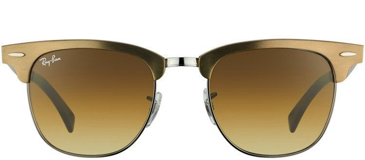 43ca41f16 ... coupon for ray ban clubmaster aluminum rb3507 139 85 brushed bronze  gunmetal gradient brown rayban clubmasteraluminum