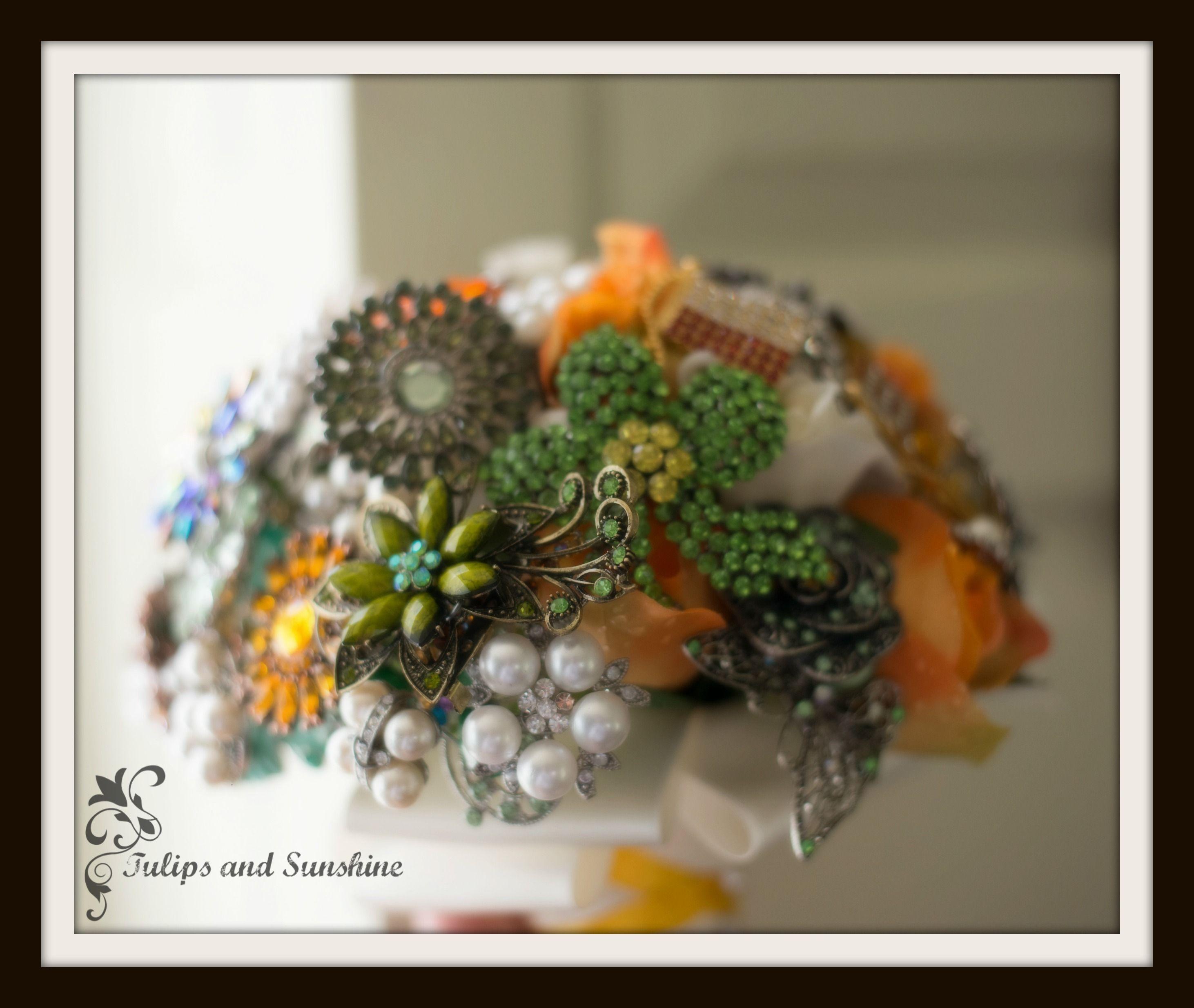 DIY Wedding Brooch bouquet tutorial Brooch bouquet