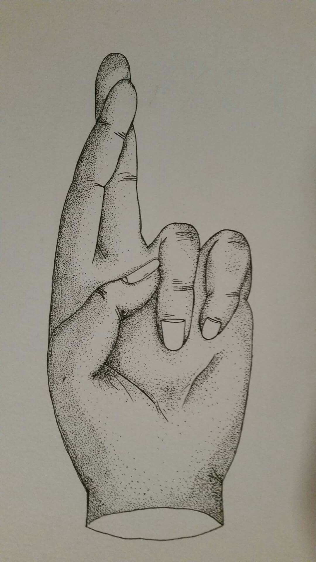 Dot drawing hand | drawing | Pinterest | Dotted drawings