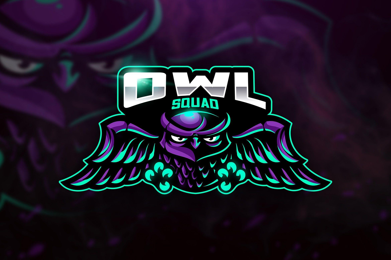 Owl Squad Mascot & Esport Logo Logo keren, Gambar