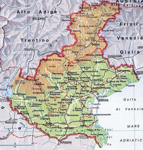 Cartina Politica Italia Verona.Italie Venetie Geografia Attivita Geografia L Insegnamento Della Geografia