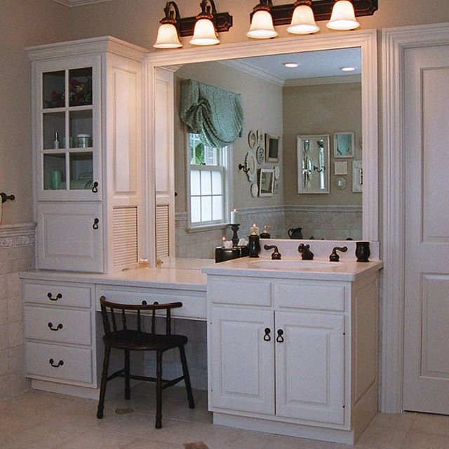 Ageproof Your Bath With Customcabinets Built To A Comfortable - Comfort height bathroom vanity for bathroom decor ideas