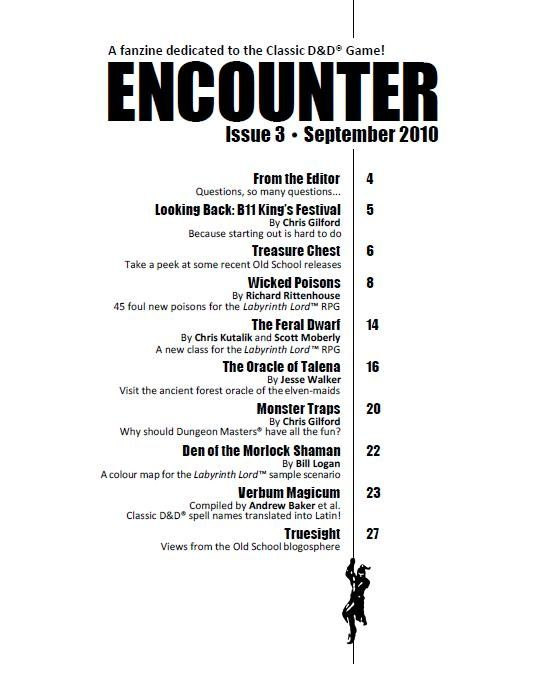 Magazine Table Of Contents Images  Table Of Contents Encounter