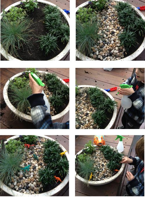 build a dinosaur garden for the kids - Garden Ideas For Kids To Make