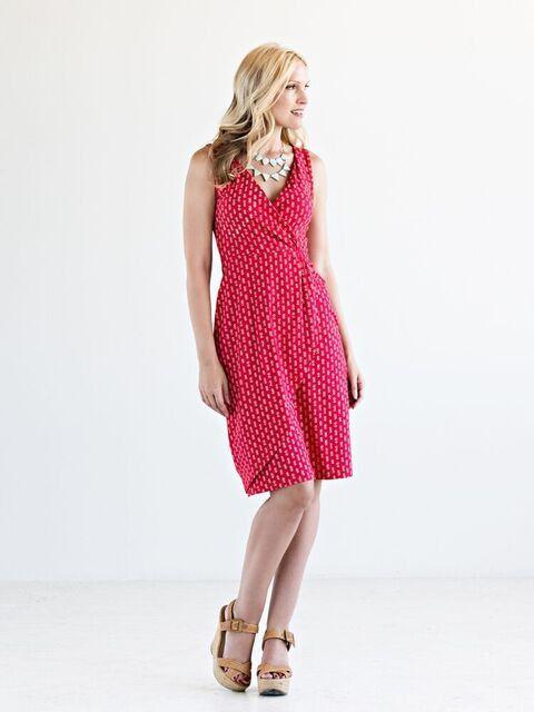 Eva Wrap Dress Red
