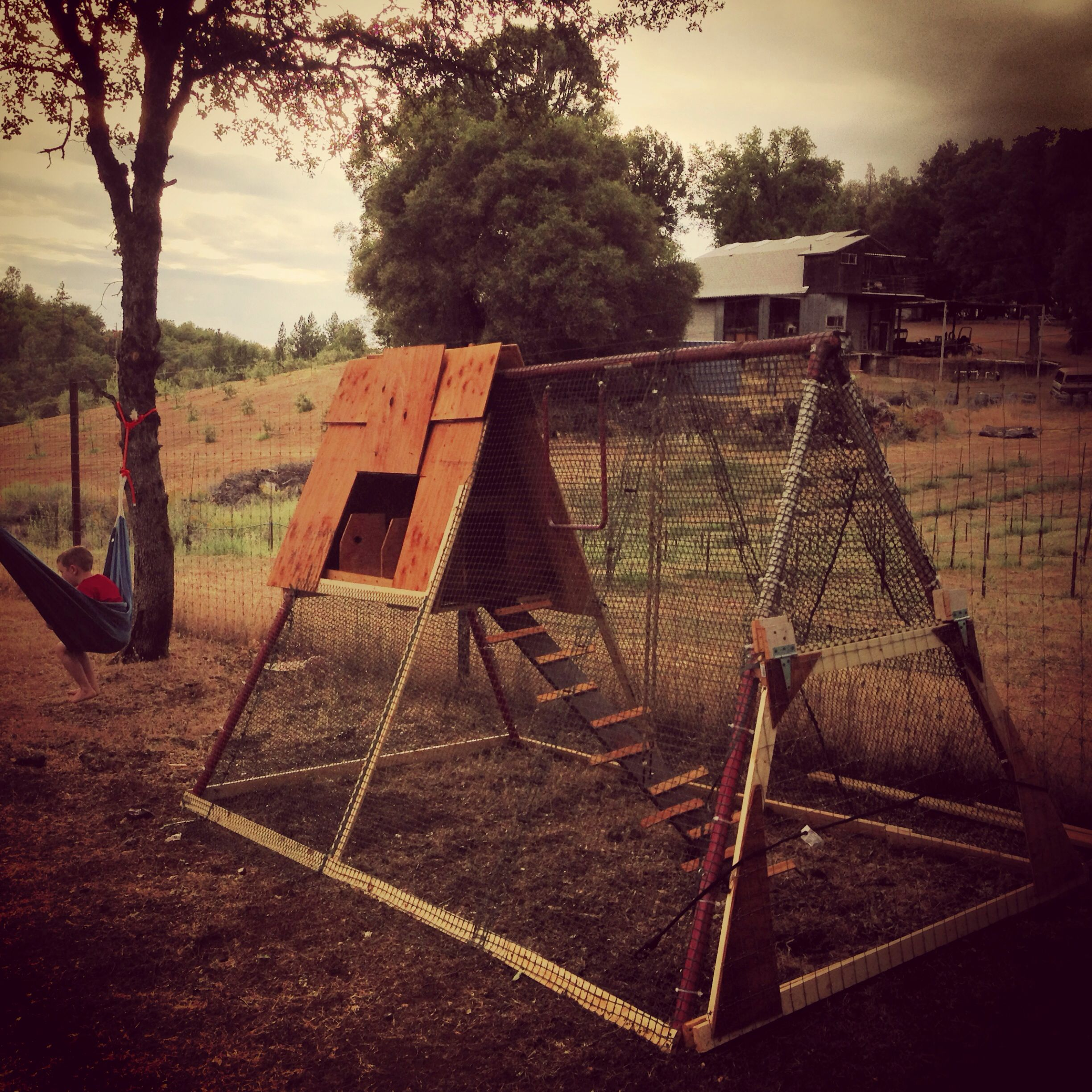 chicken coop recycled swing set chickens pinterest coops
