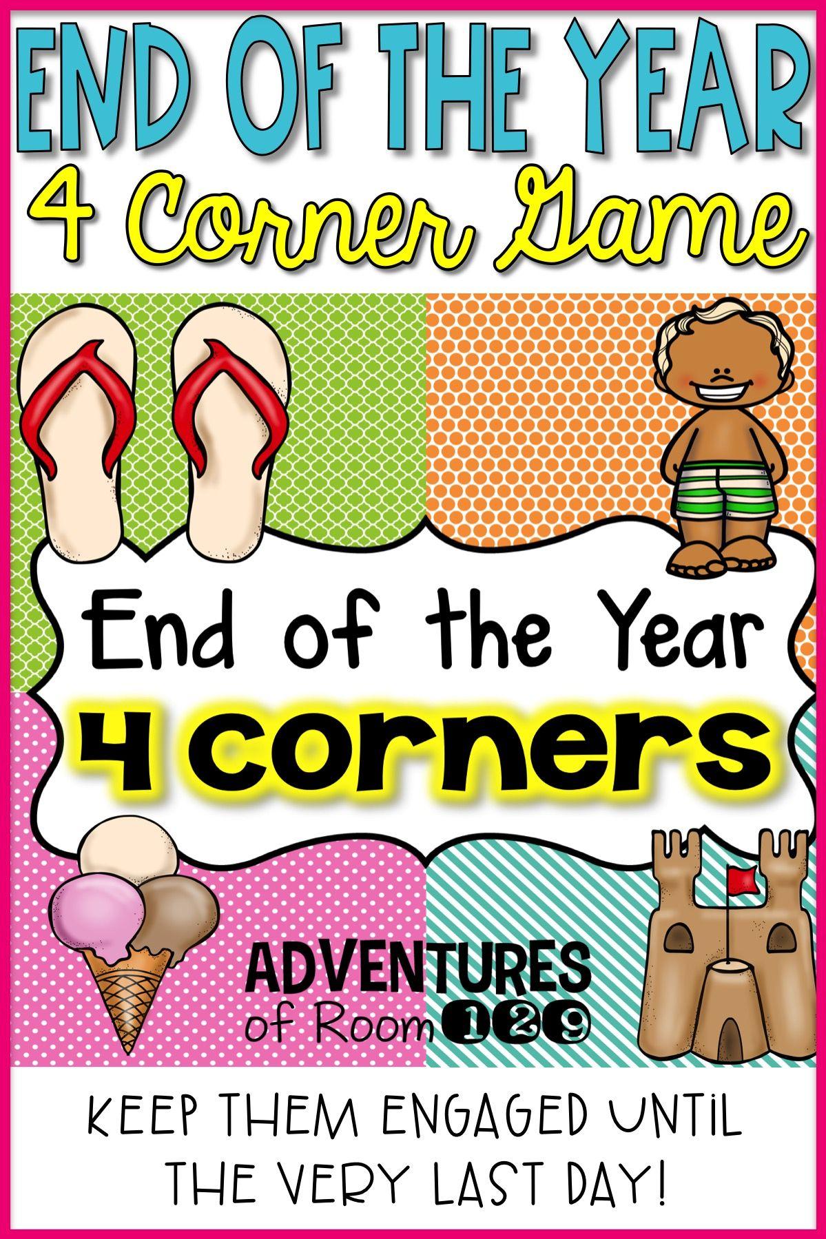 End of Year 4 Corner Game Editable Primer dia de