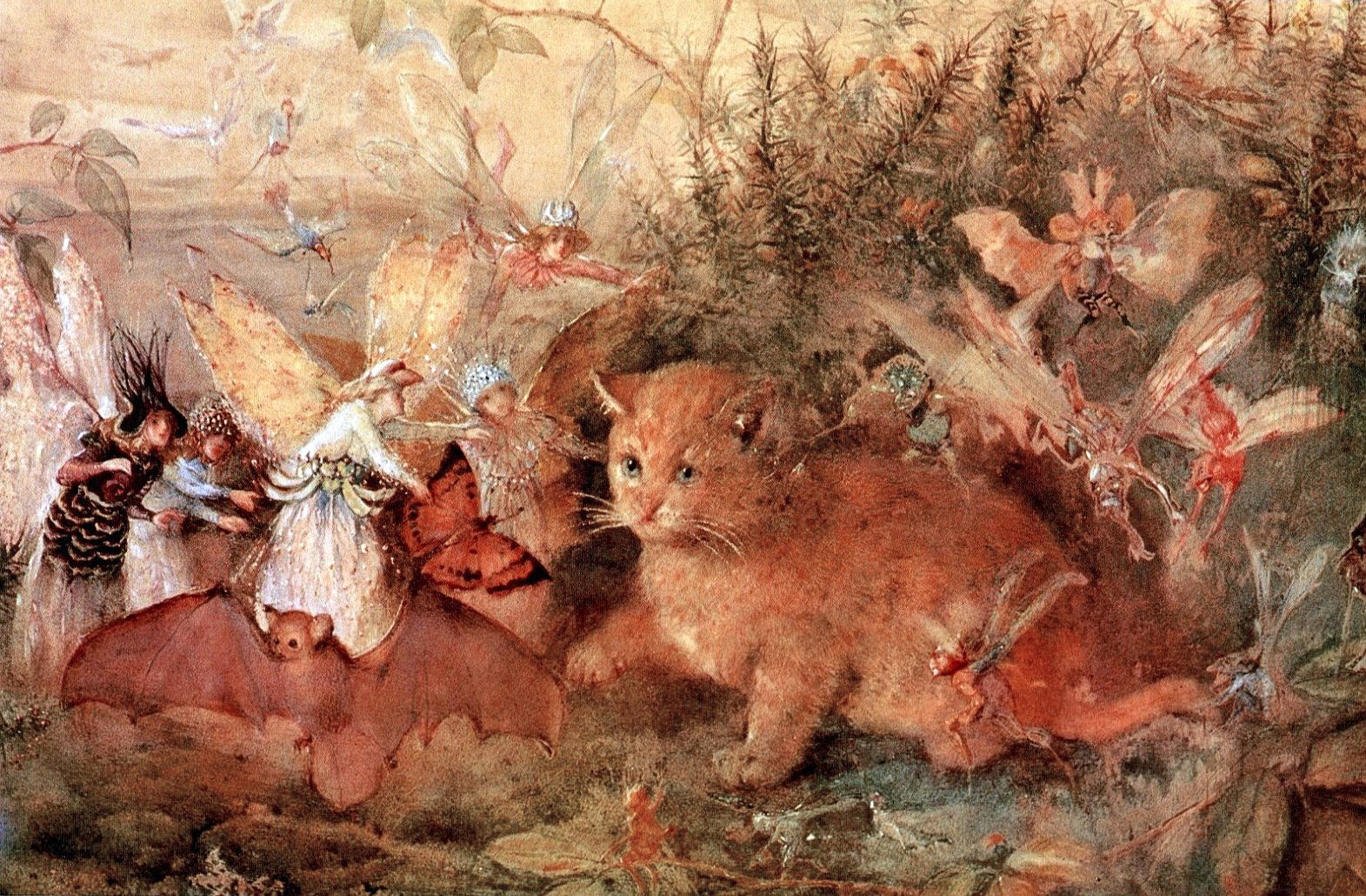 Fairy painting was a minor vogue in Victorian England. John Anster Fitzgerald  (1819?-1906) was a leading practitioner of this particular a...