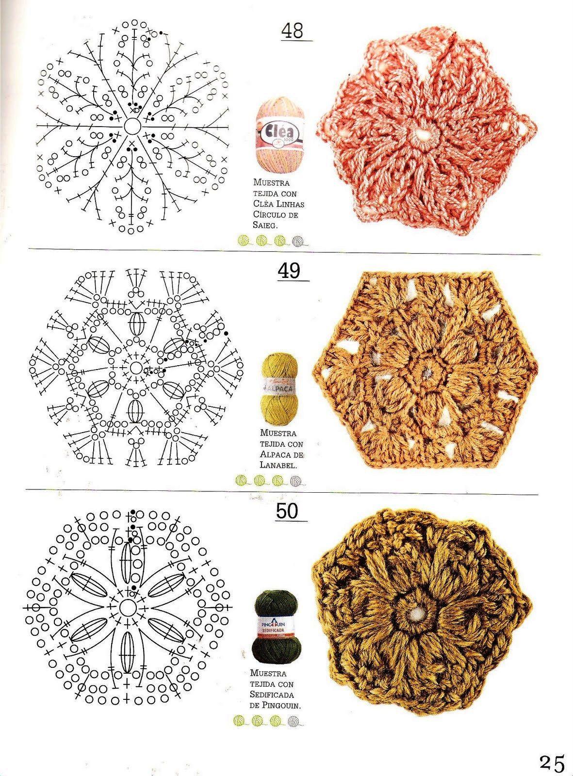 SOLO PUNTOS: crochet círculos, pentagonal, triangulos | crochet ...