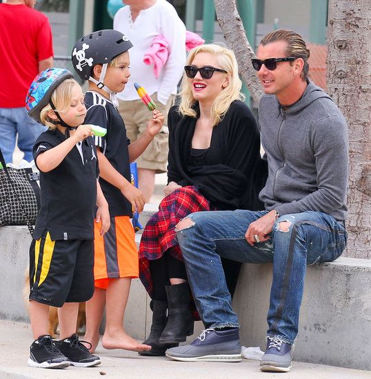 How precious! Gwen Stefani and Gavin Rossdale watched over their boys during a visit to an LA park on Saturday.