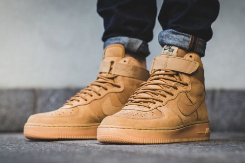 Air force 1 'flax' high '07 lv8 wb 'flax' 1 in 2018   Stylish Man   80014d