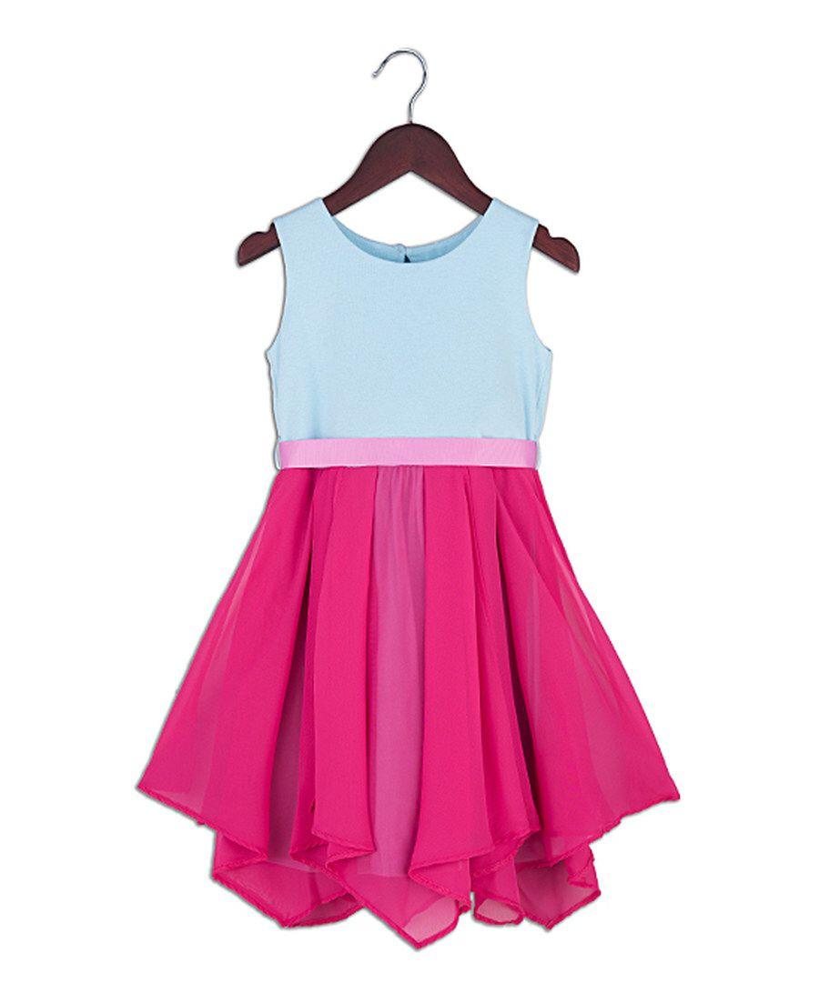 Look at this Joe-Ella Pink Chiffon-Tier Dress - Toddler & Girls on ...