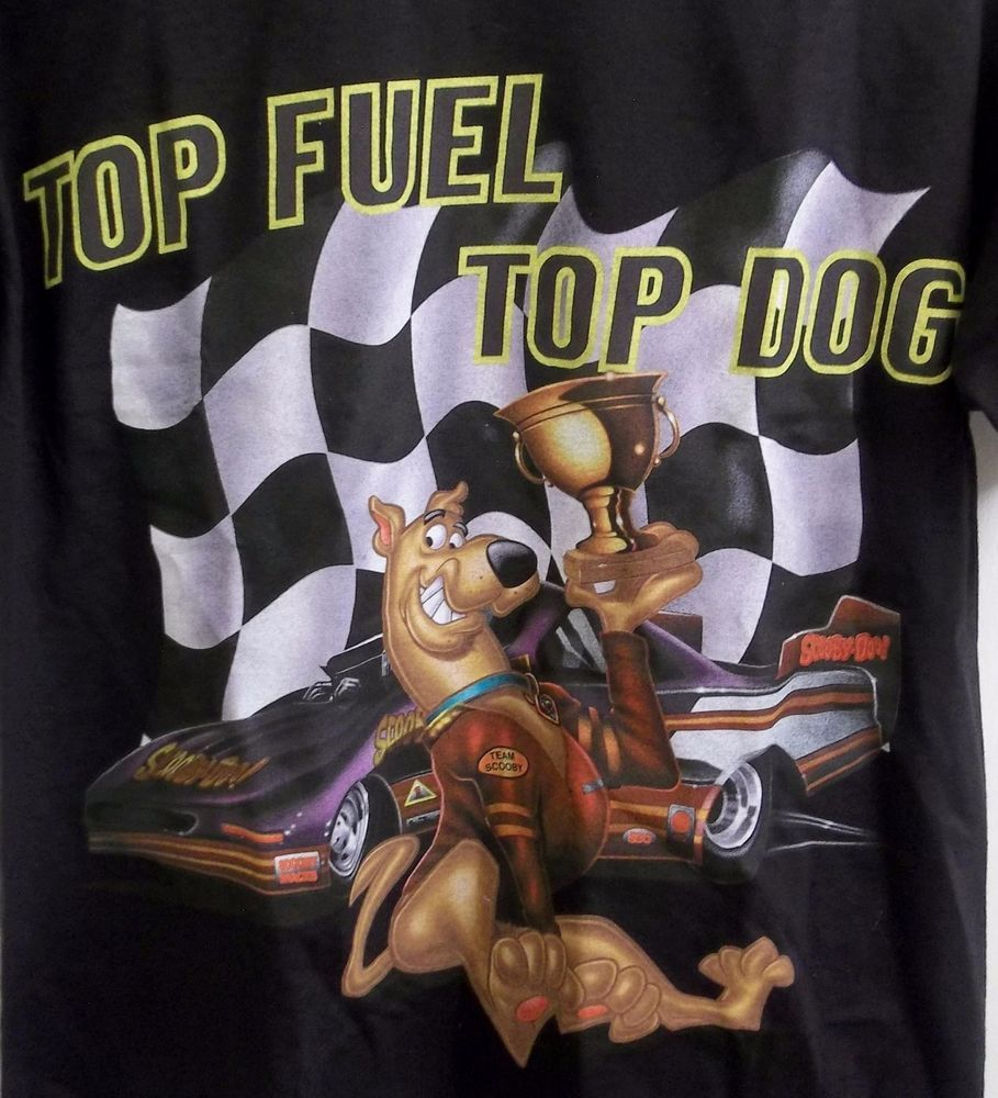 Scooby Doo Top Fuel Top Dog T-Shirt Adult M Medium New with Tags Cartoon Network
