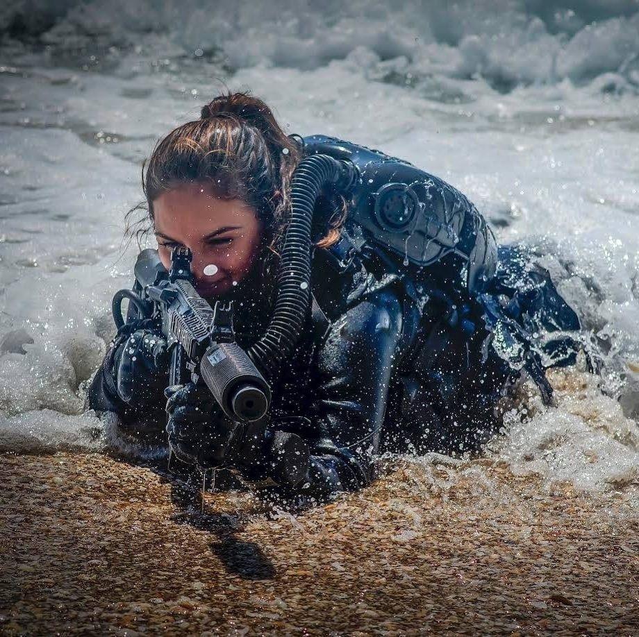 Lovie From The Sea Female Soldier Girl Guns Warrior Woman