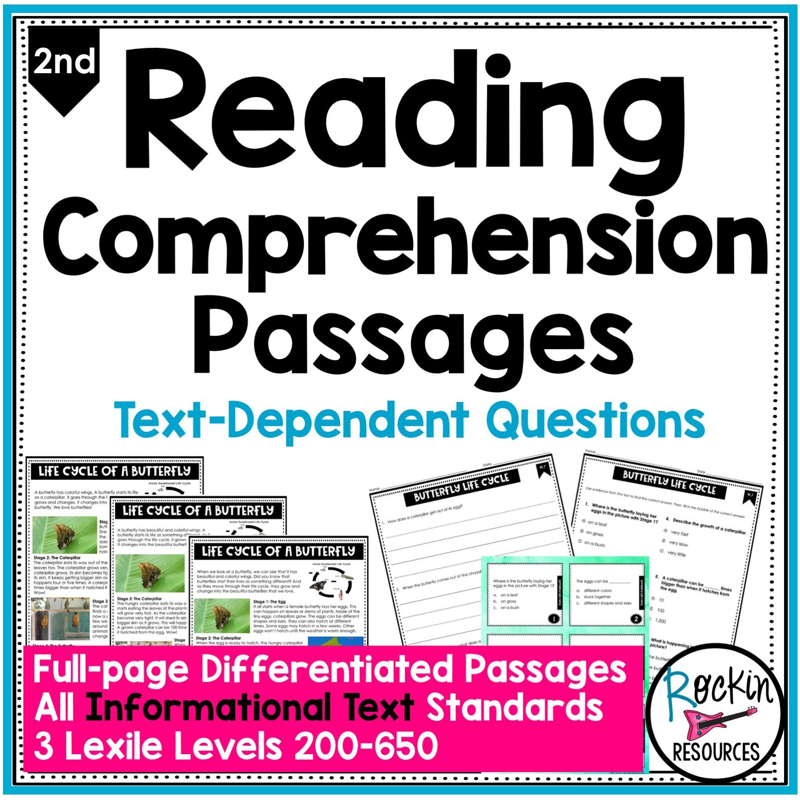 2nd Grade Informational Reading Comprehension Passages Rockin Resources Reading Comprehension Passages Comprehension Passage Informational Reading [ 1606 x 1606 Pixel ]