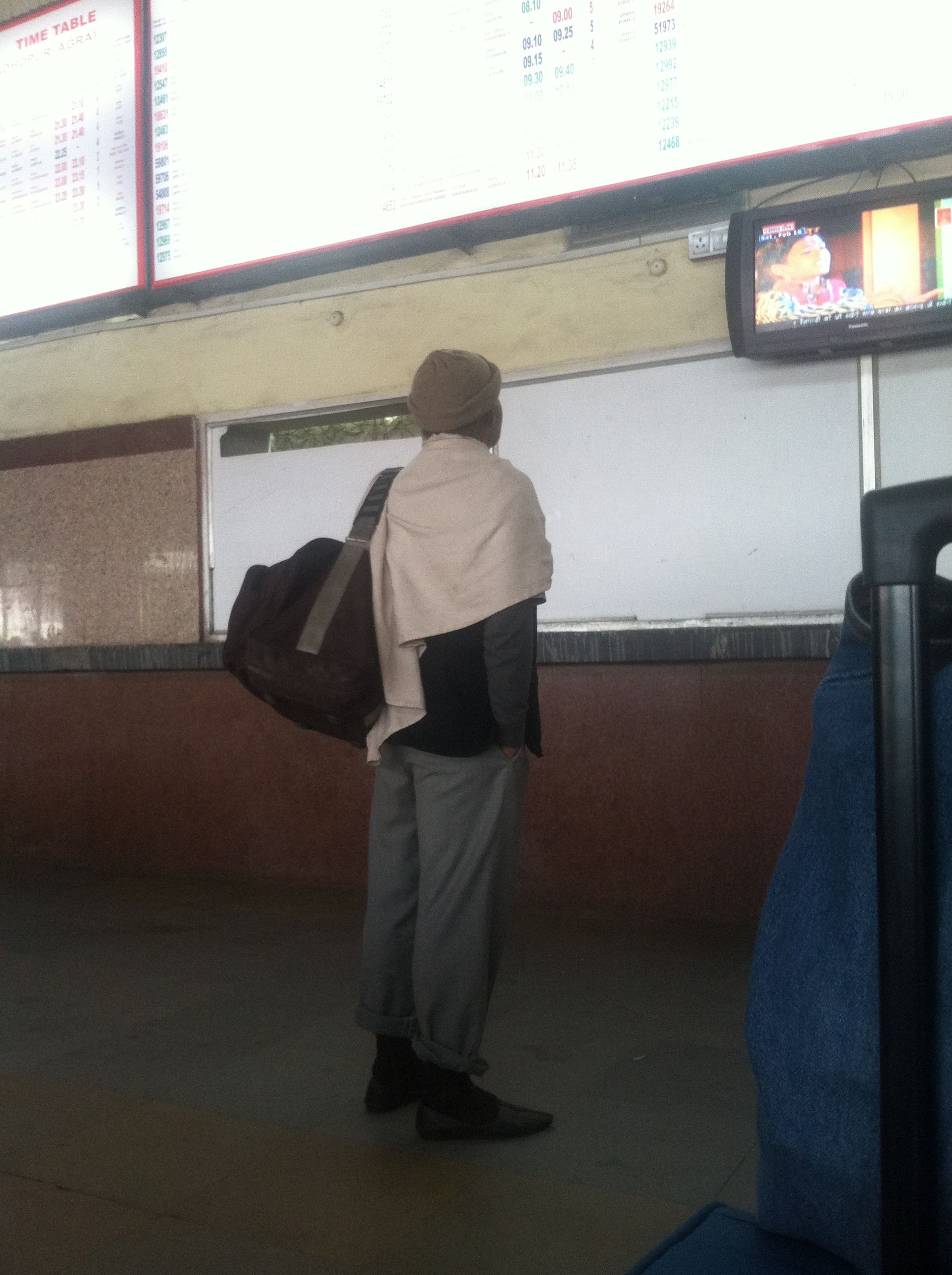 Saw this man at the train station in Jaipur. #styleicon