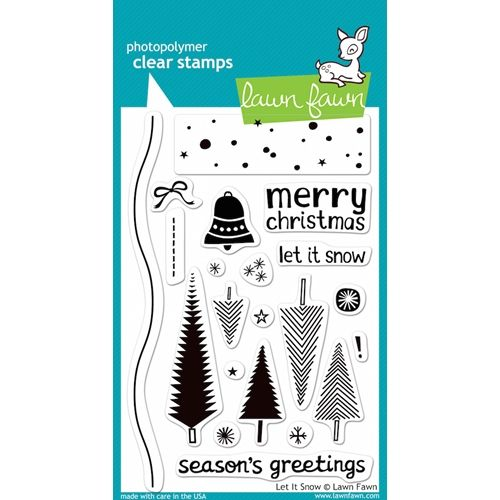 Lawn Fawn LET IT SNOW Clear Stamps is part of lawn Background Stamp Sets -