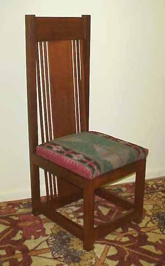 Prairie Style Spindle Chair Reminiscent of the Frank Lloyd Wright