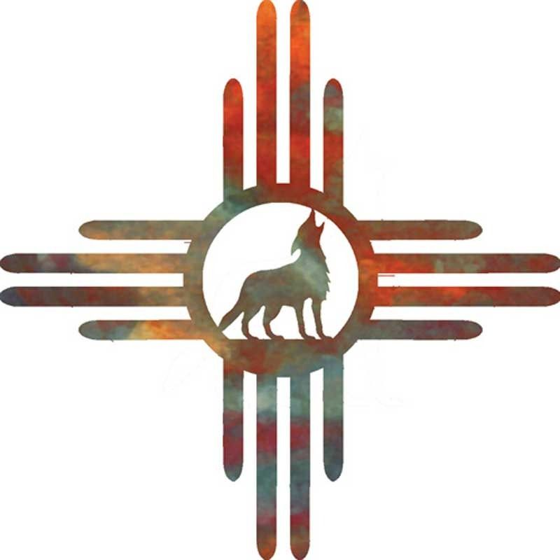 Coyote Magic Southwestern Metal Wall Art By Steel Images Home Decor Ideas Wolf Wall Art Outdoor Metal Wall Art Cow Skull Art