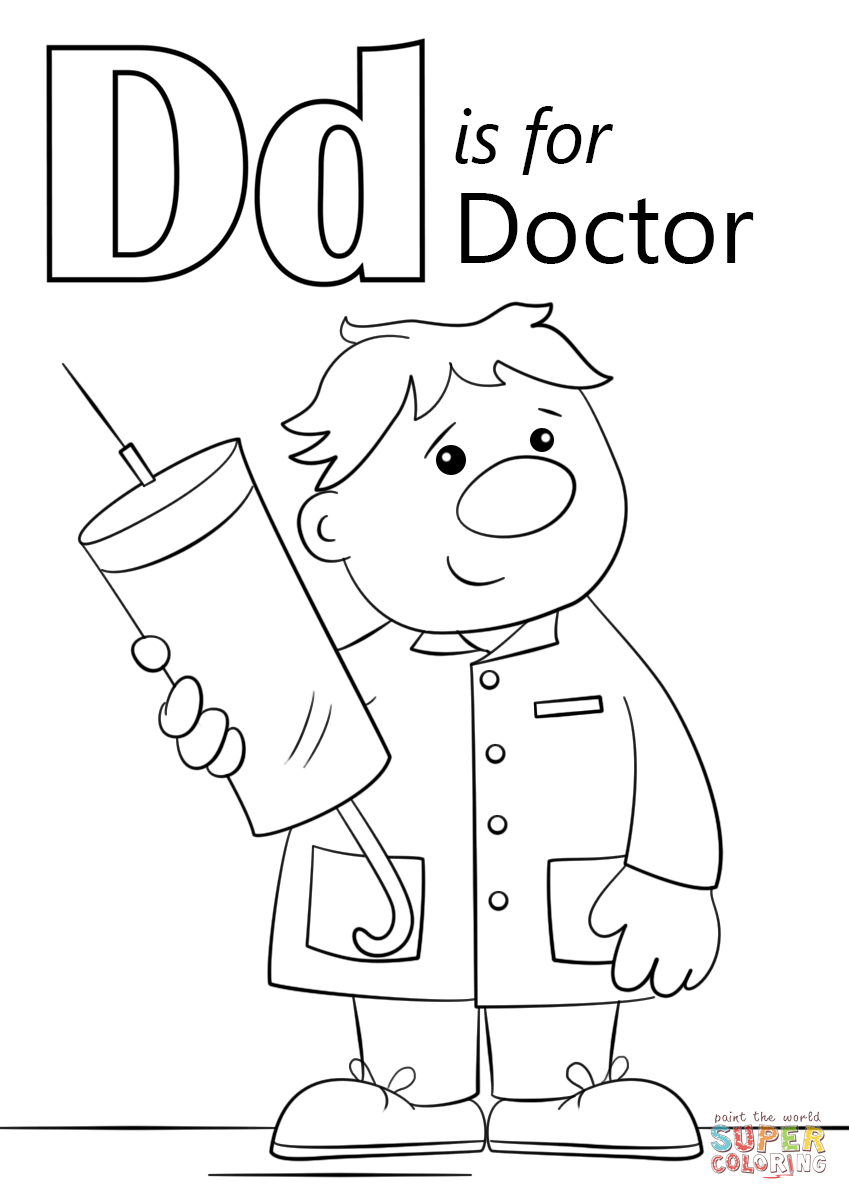 Letter D Is For Doctor Coloring Page 849