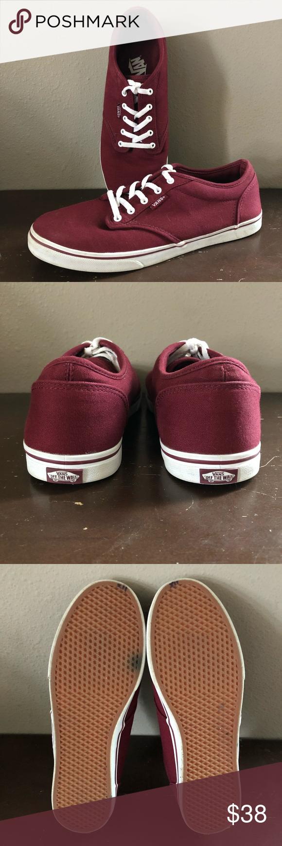 1cc8ed9e08 Maroon Authentic Vans EUC maroon and white Authentic Vans. Women s size 8 1 2.  Vans Shoes Sneakers