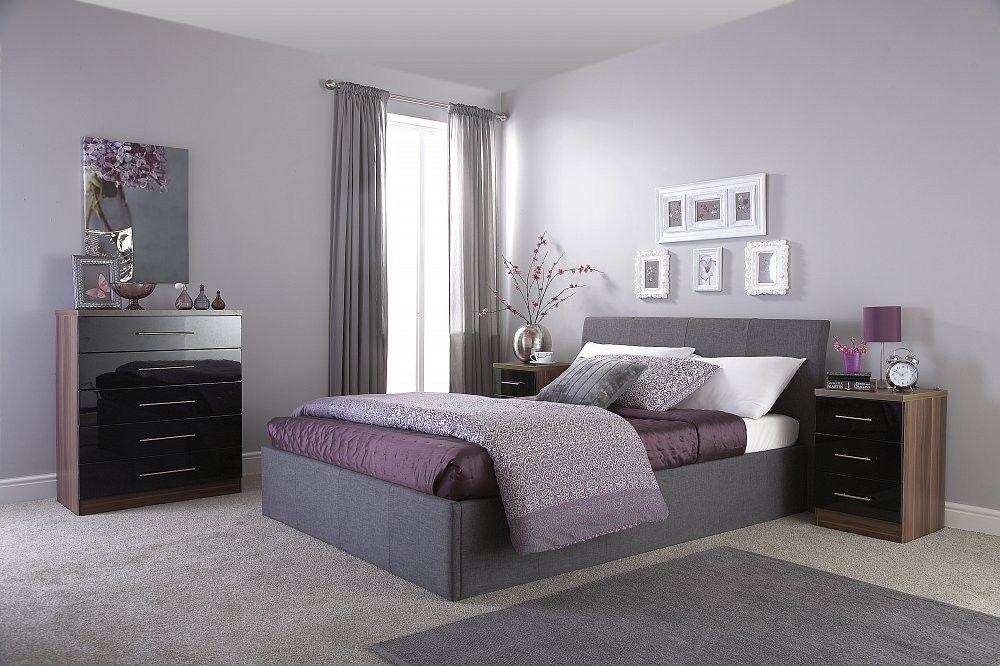Ascot Grey Fabric Lift Up Ottoman Storage Bed 3ft Single