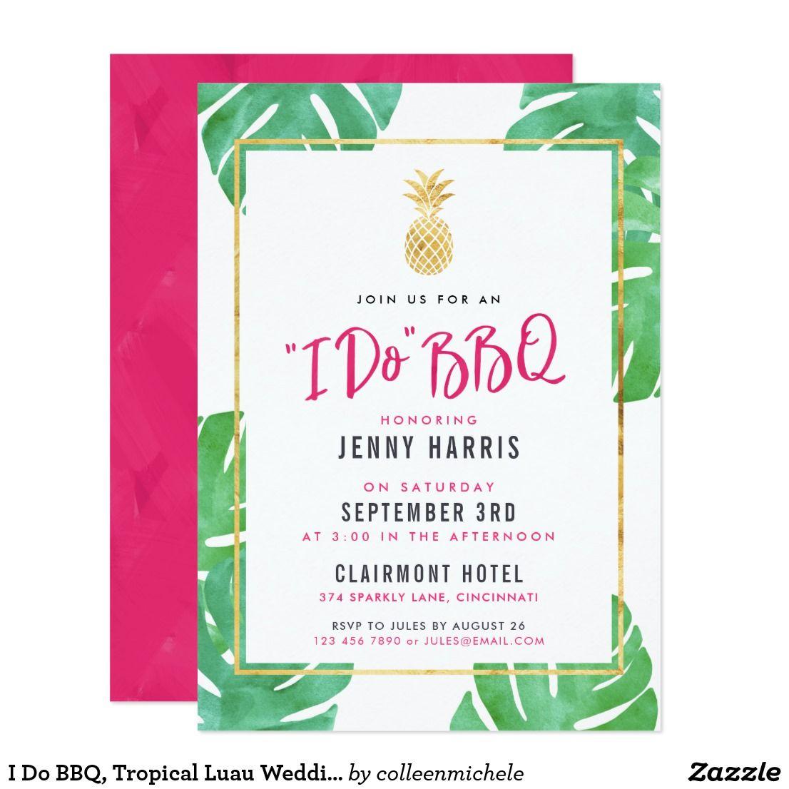 I do bbq tropical luau wedding shower card wedding shower cards